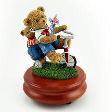 Thread Bears - Thread Bear Playmates on Tricycle Musical Figurine - MBA Reg $95
