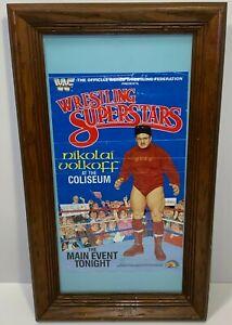 WWF Wrestling Superstars Original Poster Nikolai Volkoff - 1985 LJN TOYS LTD.