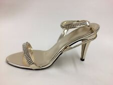 Brand New Boxed John Lewis Ladies Gold with Diamantes Sandals UK 7 EU 40