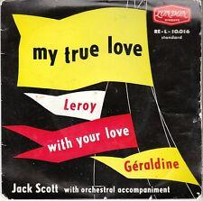 Jack Scott ROCKABILLY EP +COVER (London 10016) My True Love/Leroy FRENCH PRESS