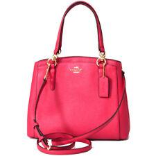 NWT Coach Minetta Crossbody in Crossgrain Leather 57847 IM/Bright Pink