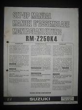 SUZUKI RM-Z250K4 Set Up Manual RM Z250 K4 Set-Up 99505-01104-011 Motorcycle