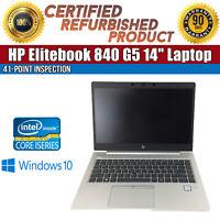 "HP EliteBook 840 G5 14"" Intel i5 16 GB RAM 512 GB SSD Win 10 WiFi B Grade Laptop"