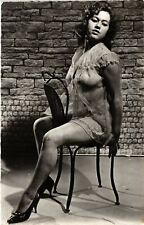 CPA femme. NUDE RISQUE real photo (500187)