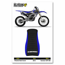 2014 YAMAHA YZF 450 SEAT COVER Pleated GRIPPER STYLE Blue/Black by Enjoy MFG