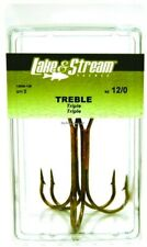 36ct GATOR FISHING HOOKS BRONZE TREBLE HOOK, SPOONBILL SIZE 12//0  SNAGGING