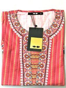 Khaadi Women's Printed Kurta Top Size 12 Brand New With Tags
