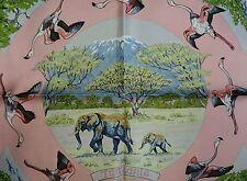 NIB Beautiful HERMES Tanzanie scarf 100% SILK FRANCE carre Robert Dallet pink