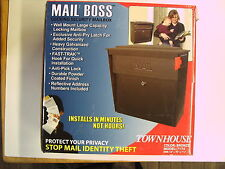 MAIL BOSS Townhouse Model 7174 Bronze Large Wall Mount Locking Mailbox