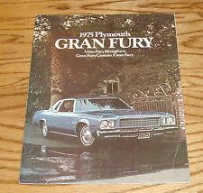 Original 1975 Plymouth Gran Fury Sales Brochure 75