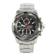 Seiko SNAD99 P1 Silver Black Dial Men's Chronograph Quartz Watch