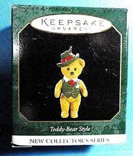 """Hallmark """"Teddy Bear Style"""" Miniature Ornament 1997"""