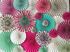 paper pinwheel fan decorations hanging backdrop kit Wedding ONLY ONE AVAILABLE