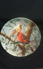 """Edwin M Knowles collector plate """"The Cardinal"""""""