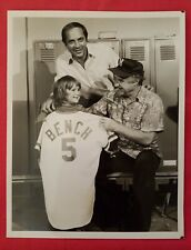 1970 Cincinnati Reds Johnny Bench Orgnl Baseball Press Photograph MLB CBS TV