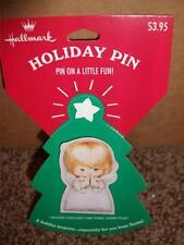 Vintage Hallmark Christmas Angel  Pin NIP 1995 Holiday Doll MINT Praying Girl