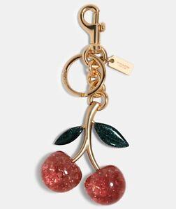 Authentic COACH Cherry 🍒 Bag Keychain F88547 Key Ring BNWT