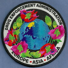 DEA EURPOE ASIA AFRICA NARCOTICS ENFORCEMENT POLICE PATCH