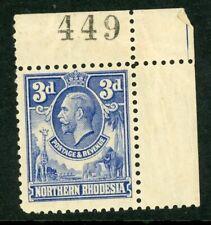 Northern Rhodesia 1925 3d ultramarine SG 5 UM/MNH