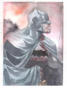 Batman Painted Art Commission - Signed art by Dustin Nguyen