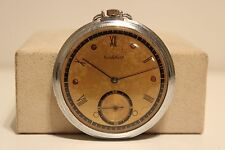 "ART DECO RARE MEN'S SWISS OPEN FACE POCKET WATCH ""CORTEBERT""/Cal.592/15 jewels"