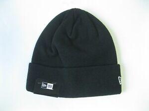 New Era Cuff Essential Beanie Blank Knit Hat Black Cap Winter Christmas Gift