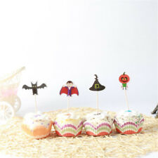 24pcs Halloween Cake Cupcake Topper Picks for Halloween Cake Table Decor F ODFS