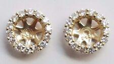 14 KARAT YELLOW GOLD DIAMOND JACKETS FOR STUD EARRINGS , DTW 0.55 CARAT , G / VS