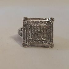 New Womens Jewelry Silver Tone Cubic Zirconia Square Ring Sz 5 Ladies Accessory