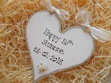 Milestone Birthday Heart Plaque Keepsake Gift 18th 21st 30th 40th 50th 60th 70th