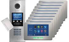 DigiOpen 9-Apartment Video Door Entry System ALECTO IR monitors