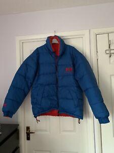 Vintage Reversible Helly Hansen Down Jacket Blue/red - Medium