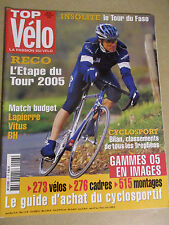 TOP VELO N°93: DECEMBRE 2004: TOUR DU FASO - LAPIERRE - VITUS - BH - 273 VELOS