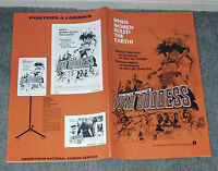 WAR GODDESS original 1974 movie pressbook LUCIANA PALUZZI/SABINE SUN/HELGA LINE