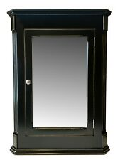 Ludwig Recessed Medicine Cabinet / Antique Black Finish / Solid Wood