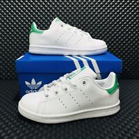 Adidas Originals Stan Smith (Youth Size 1Y) Athletic Casual Sneaker White Shoe
