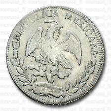 MORUZZI - Mexico REPUBLICA 4 REALES 1849 Zacatecas Plata BB / VF / MBC