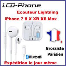 Écouteurs iPhone 7 8 Plus X XR XS Max Bluetooth Casque + Micro+Contrôle du volum