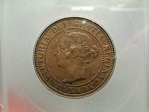 UNC 1882-H Large Cent CANADA ICG MS62 BN.  #8