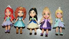 "5 Disney Princess Toddler Mini Poseable Dolls 3.5"" Mulan-Merida-Elsa-Ariel"