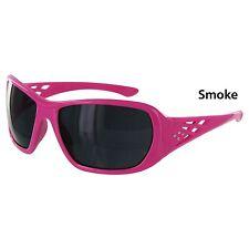 SAFETY GLASSES ERB LADIES SPORTY SMOKE LENS  PINK ROSE TEMPLE LENS ANSI ST17954