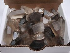 Smoky Quartz Points Collection 1/2 Lb Natural Clear Brown Crystals Brazil