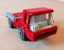 No.37 Matchbox Superfast Red Skip Truck 1978.