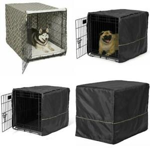 "Dog Crate Kennel Cover 48""/42""/36""/24"" Breathable Anti Bark Chew Pet Cage Cover"