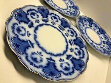 RARE Antique 1890s ALTON TRADE MARK FLOW BLUE ART NOUVEAU WH GRINDLEY Co ENGLAND