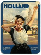Vintage Holland Travel Poster Mouse Mat High Quality Netherlands Advert MousePad