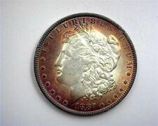 1887 MORGAN SILVER DOLLAR GEM UNCIRCULATED IRIDESCENT TONING!!