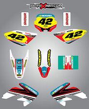 Full Custom Graphic Kit Honda CRF 100 - 2002 / 2010 STRIKE style stickers/decals