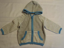 Gymboree 12-18 Month Gray Zip Front Cotton Long Sleeve Hoodie Sweater NWT