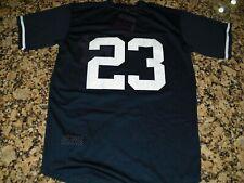 New!! Don Mattingly #23 New York YankeesMesh Blue Baseball Jersey Men's XL 48